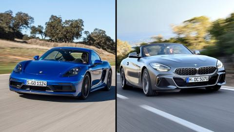 Porsche Cayman vs BMW Z4 2019