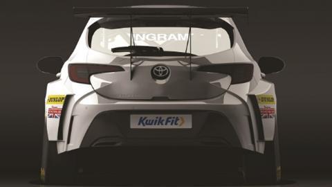 Toyota Corolla trasera BTCC