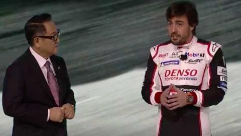 Fernando Alonso y Akio Toyoda