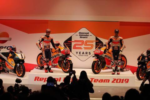 Presentación de Repsol Honda MotoGP con Márquez y Lorenzo