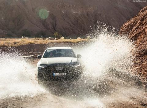Audi Q8 le gustan los ríos