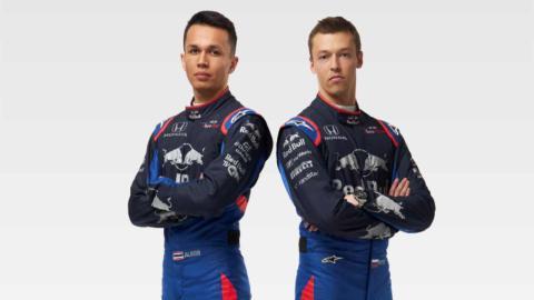 Alexander Albon y Daniil Kvyat