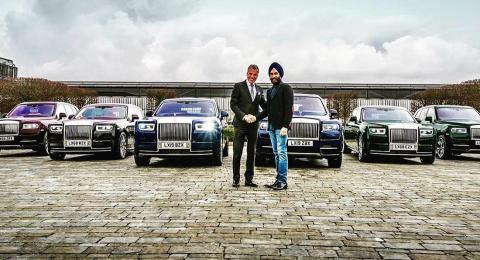 Un multimillonario se compra seis Rolls-Royce en distintos colores para que conjunten con sus turbantes