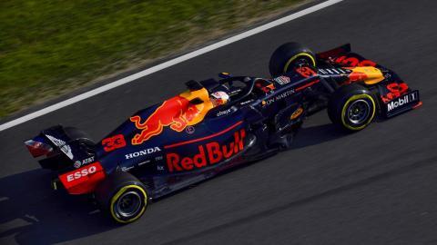 Max Verstappen en los test de Barcelona