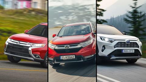 Honda CR-V vs Mitsubishi Outlander vs Toyota RAV4