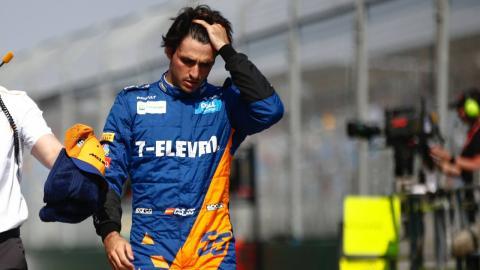 Carlos Sainz en la clasificación de Australia