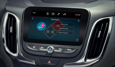 Domino's Pizza está desarrollando una app para pedir pizza desde el coche