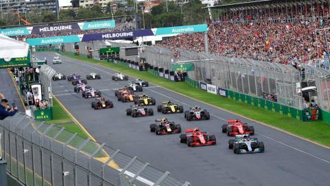 Salida GP Australia F1 2018