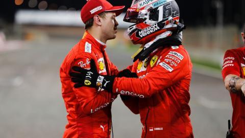 Sebastian Vettel en el GP de Bahréin