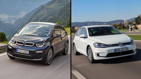 Volkswagen e-Golf vs BMW i3