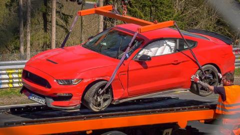 Accidente Ford Mustang Shelby GT350