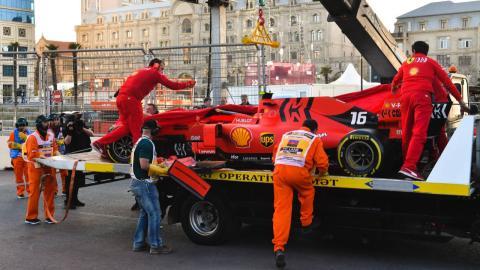 Accidente de Leclerc en Bakú