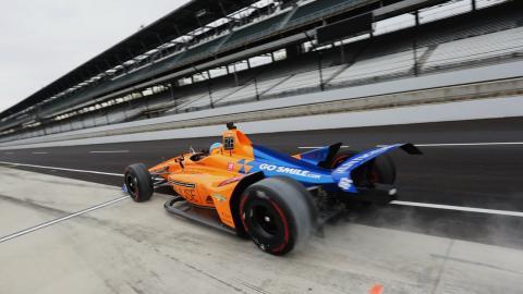Alonso en el test de Indianápolis