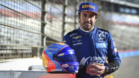 Alonso test Indycar