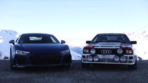 Audi R8 y Audi Quattro Alpes