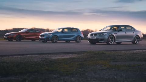 BMW 840d vs BMW M140i vs BMW M5 E60