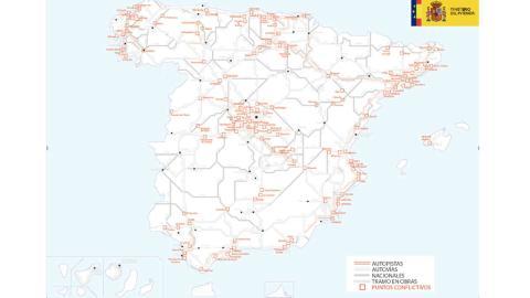 Mapa carreteras con más atascos en Semana Santa