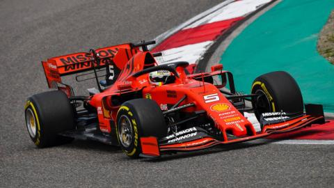 Sebastian Vettel en los Libres 1 del GP de China