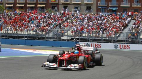Alonso en el GP Valencia 2012