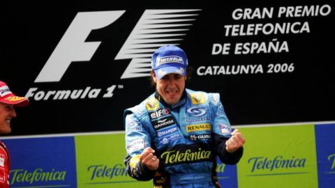 Alonso en el podio del GP de España