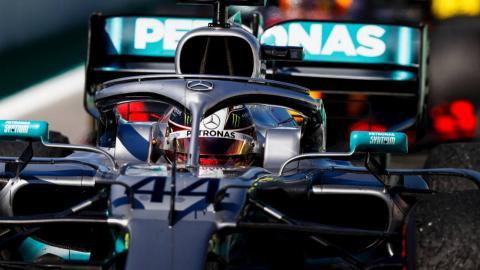 Hamilton en el GP de España de F1