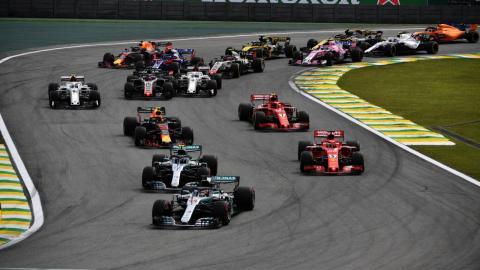 Salida GP Brasil 2018