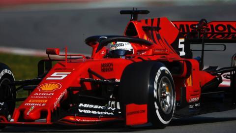 Sebastian Vettel en Barcelona