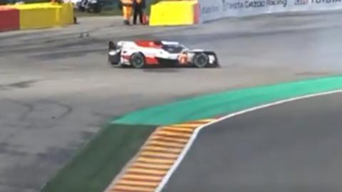 Trompo de Alonso en Spa