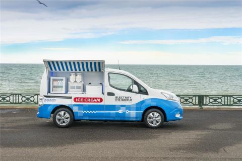 Nissan crea una furgoneta de reparto de helado cero emisiones