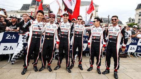 Pilotos Toyota en Le Mans