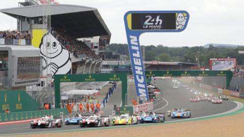 Salida de las 24 Horas de Le Mans 2019