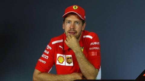 Vettel en rueda de prensa