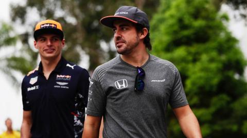 Alonso y Verstappen