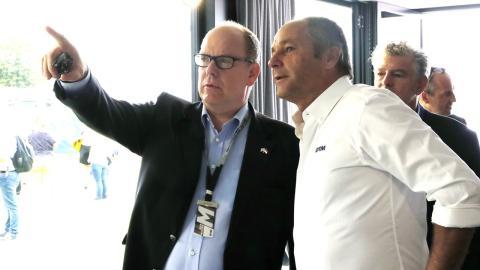 Gerhard Berger y Alberto de Mónaco