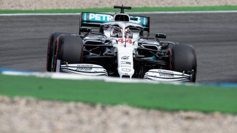 Lewis Hamilton en Hockenheim
