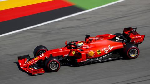 Sebastian Vettel en el GP de Alemania