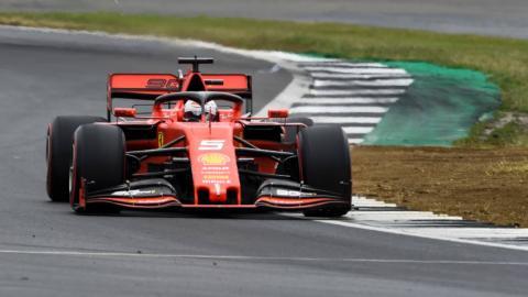 Vettel en la clasificacion de silverstone