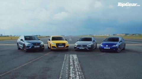 Audi SQ2 vs VW Golf R vs Mercedes-AMG A35 vs Cupra Ateca