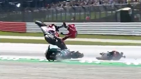 motogp accidente crash ducati yamaha
