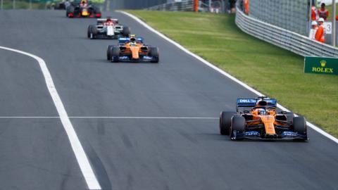 Sainz en el GP de Hungria
