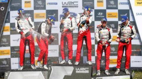Triplete de Toyota en el Rally de Alemania