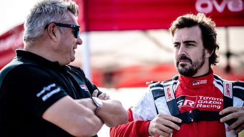 Alonso en el test del Dakar