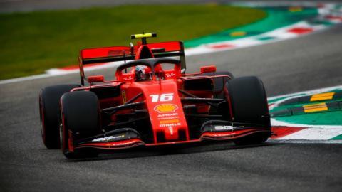 Charles Leclerc en Monza