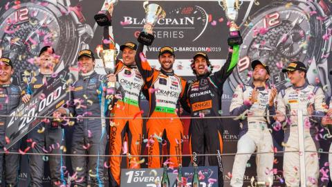 Podio de las Blancpain Endurance Series