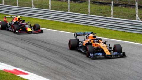 Sainz vs Albon en Italia
