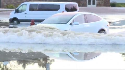 Tesla Model X inundación