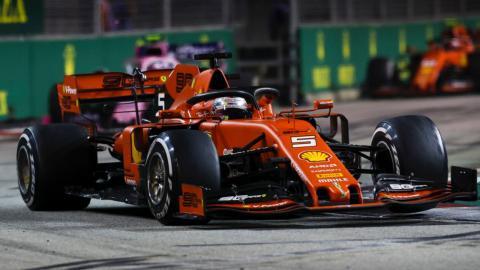 Vettel en el GP Singapur
