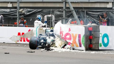 Accidente de Bottas en México