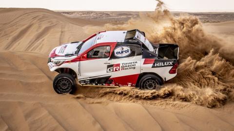 Alonso en el Rally de Marruecos