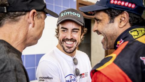 Fernando Alonso en Marruecos